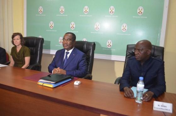 Klassou et délégation MCC - Programme Threshold : seconde mission du MCC au Togo
