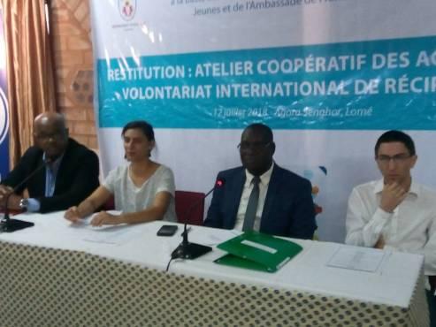 IMG 20180713 WA0014 - Développement du volontariat international de réciprocité: l'ANVT et France Volontaires restituent les recommandations des rencontres de Lomé et de Niamey