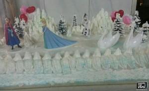 Tarta de Frozen en la nieve