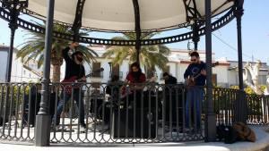 Buensuceso actuó en el templete central de la Plaza de la Constitución