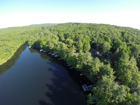 Aerial view of Holbrook's Cove and Campground