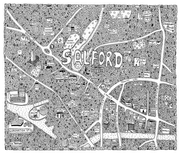 Salford Doodle Map