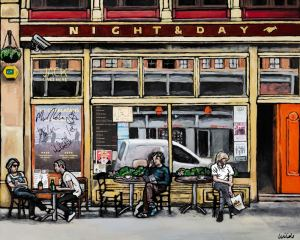 fine art print of Manchester's notorious Night and Day cafe by local artist Matt Wilde