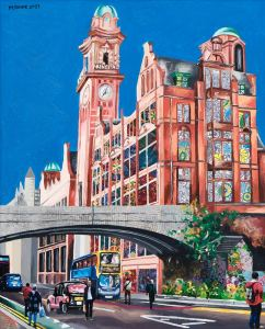 Manchester art print of Oxford Road's Palace Hotel by local artist Michelle Taube.
