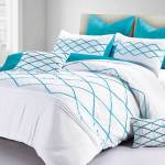 Adela Turquoise Blue Quilt Cover Doona Cover Set By Luxton Manchester Direct
