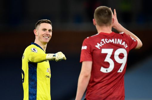 Henderson and McTominay celebrate at full-time