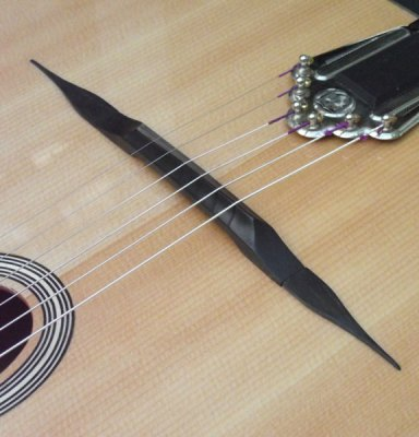 Dell Arte gypsy jazz guitar bridge reprofile