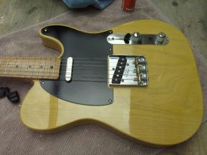 The assembled guitar