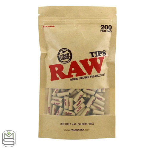 RAW Pre-Rolled Tips - Bag of 200