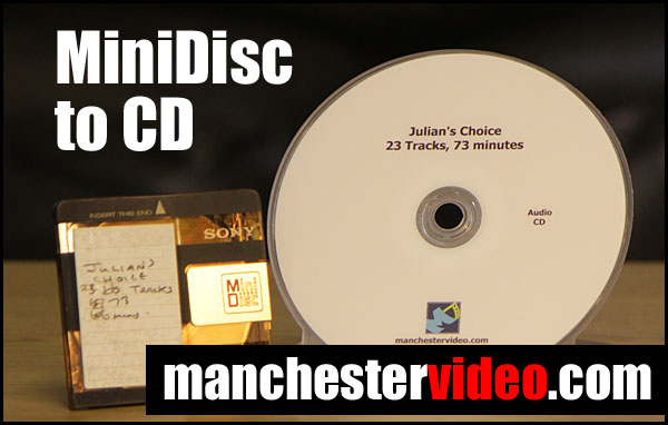 MiniDisc with audio CD