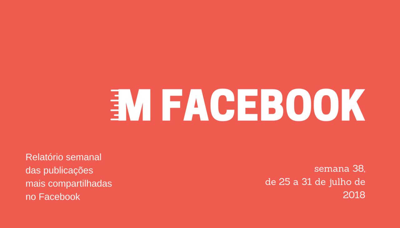 Entre os dias 25 e 31 de julho de 2018, as 139 páginas que monitoramos publicaram 7.541 posts, que geraram 3.496.984 compartilhamentos.