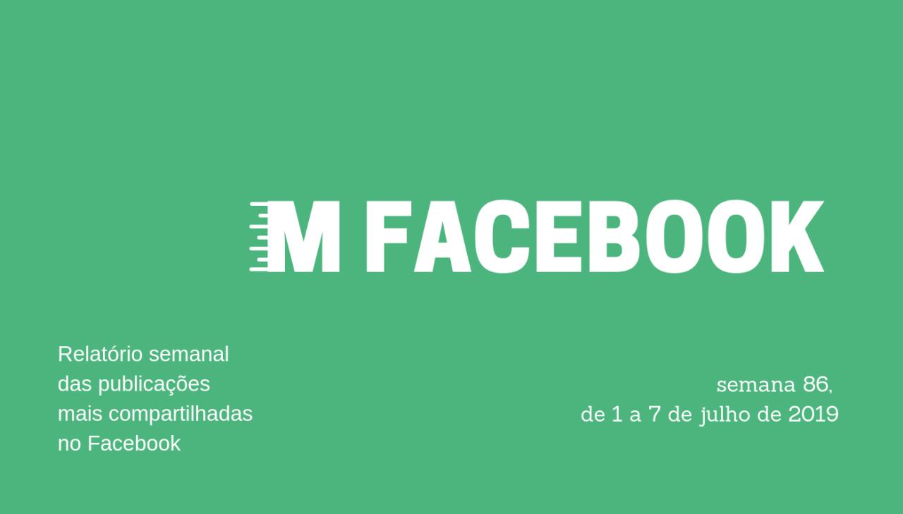 Entre os dias 1º e 7 de julho de 2019, as 158 páginas que monitoramos publicaram 7.033 posts, que geraram 3.689.671 compartilhamentos.