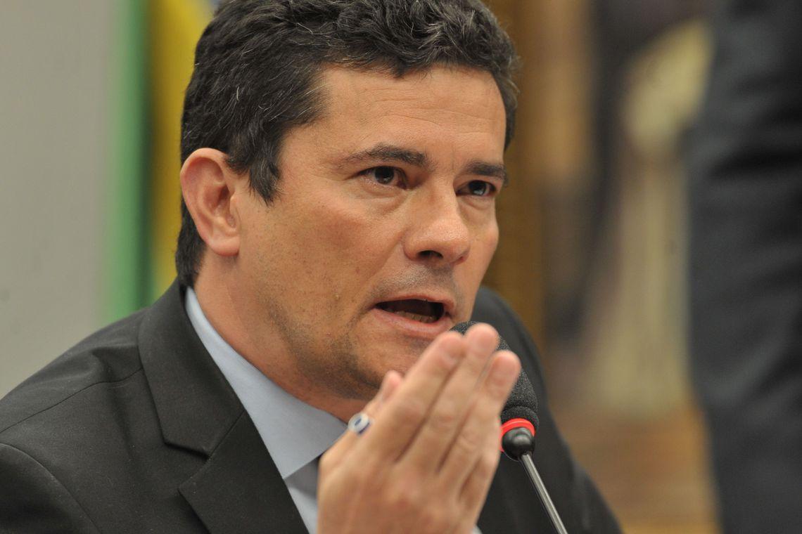 O ministro da Justiça e Segurança Pública, Sergio Moro, durante audiência pública na Comissão de Constituição e Justiça (CCJ) da Câmara dos Deputados.