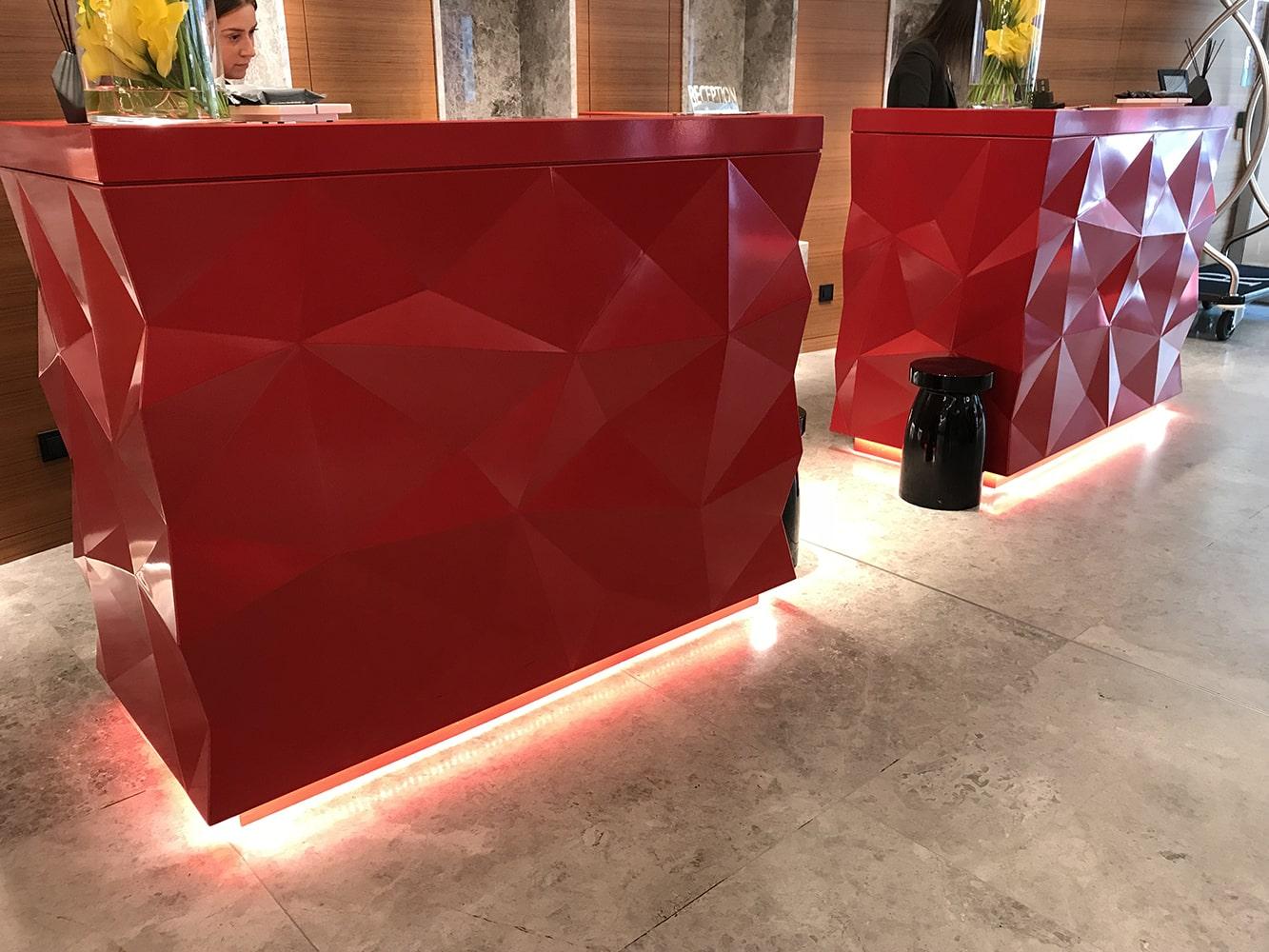 Comptoir rouge