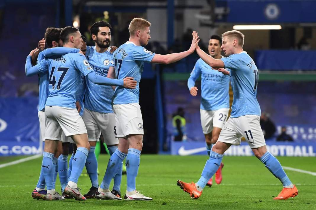 Manchester City gaols celebration vs Chelsa