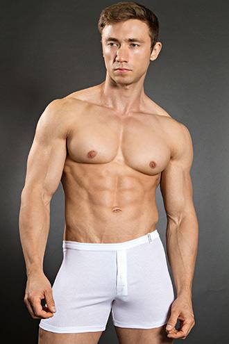 Bruno Banani Cotton Line Button Short White