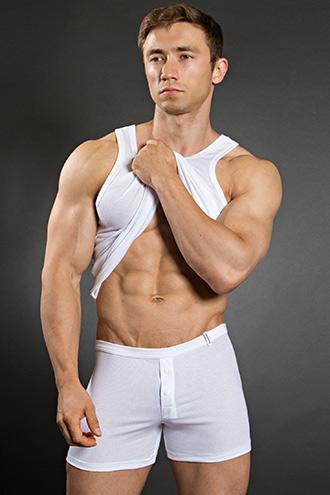 Bruno Banani Cotton Line Sport Shirt White and Button Short