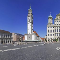 Escorted Motorhome Tour Germany's Romantic Road, Market square Augsburg