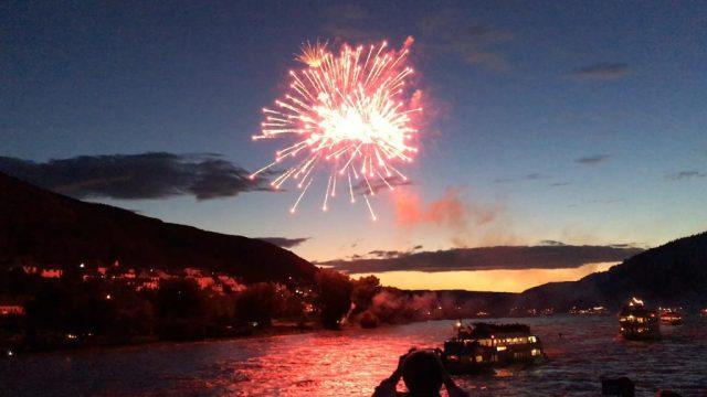 Rhine in Flames fireworks 2016