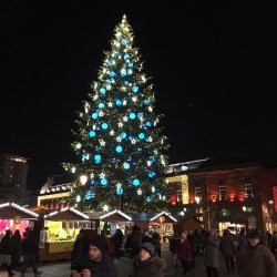 "Blue Christmas Tree Strasbourg European escorted motorhome tour ""Europe's Best Christmas Markets"""