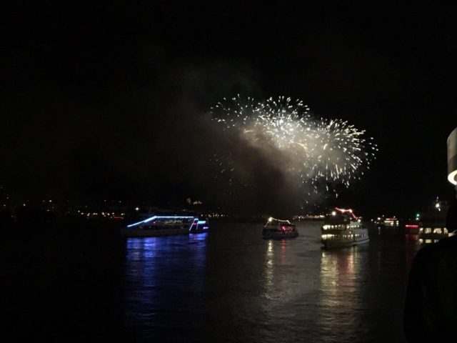 Fireworks during Rhine in Flames