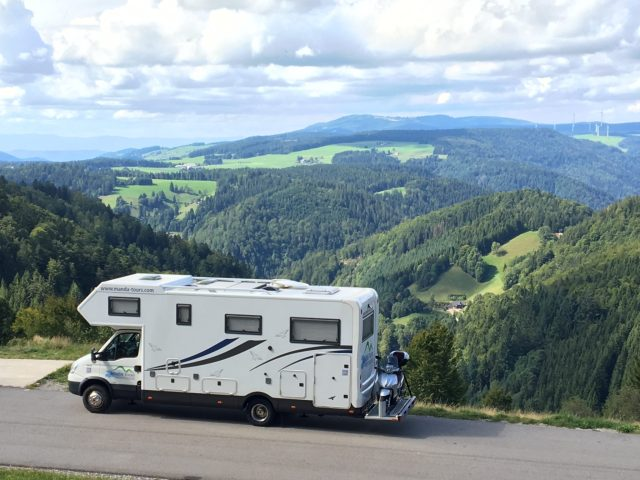 Black Forest scenery with motorhome