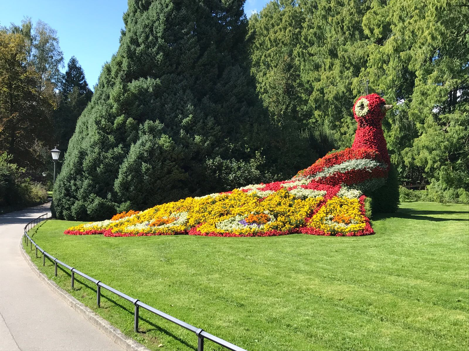 Flower Island Mainau And Port Of Konstanz At Lake Constance