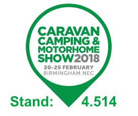 Caravan Camping & Motorhome Show 2018 Stand 4.514