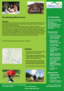 First Page Breathtaking Black Forest 2019 Tour Flyer