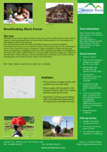 Photo First Page Tourflyer Breathtaking Black Forest 2020