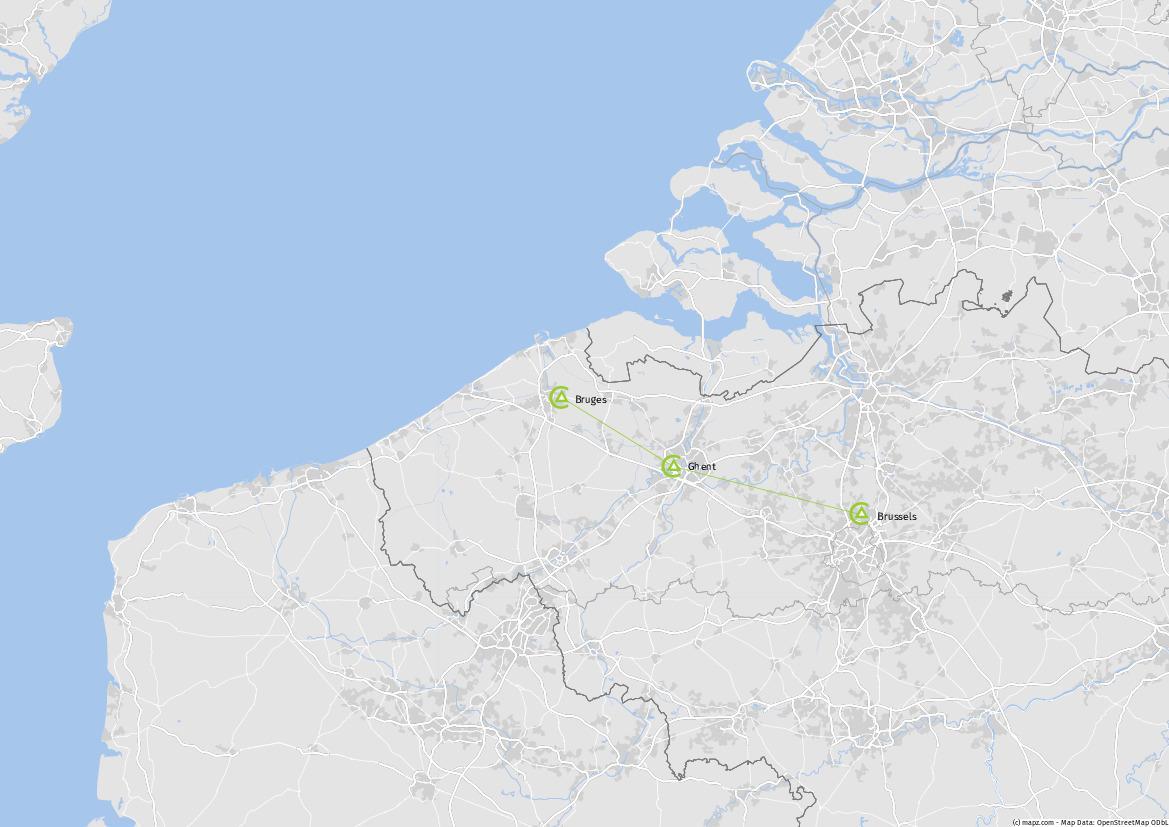 Tour Map Belgian Break 2018