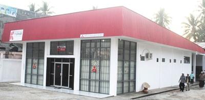 Kantor dealer Mitsubishi di Panyabungan yang baru diresmikan