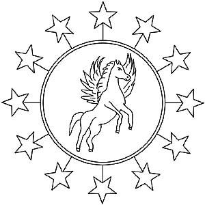 Pegasus Und Einhorn Als Kostenlose Mandalas Fr Kinder