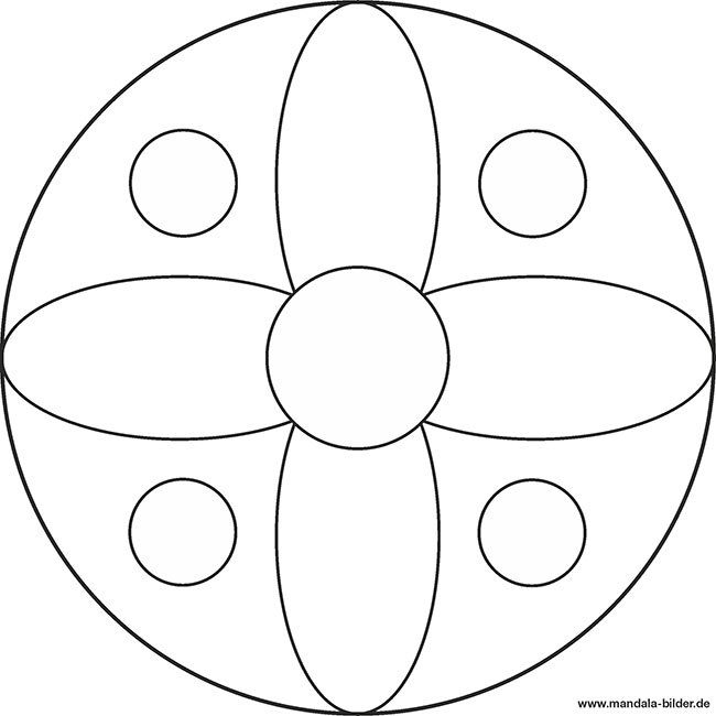 Einfache Mandala Vorlage Fr Kindergartenkinder