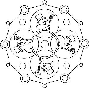 Natur Und Jahreszeiten Mandalas Zum Ausdrucken
