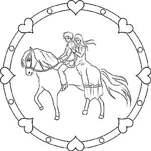 Pferde Und Ponys Gratis Mandalas Als Ausmalbilder Fr Kinder