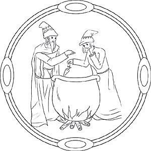 Zauberer Und Hexen Mandalas Zum Ausdrcken Und Ausmalen