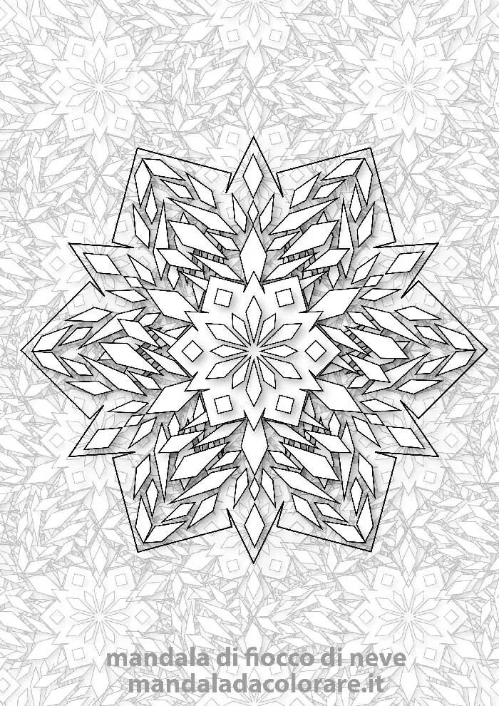 mandala da colorare fiocco di neve