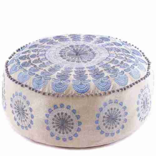 Bohemian Floor Pillow Blue 1