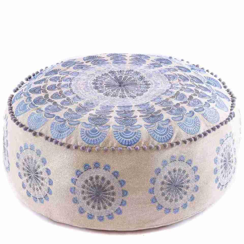 Bohemian Floor Pillow Blue 1