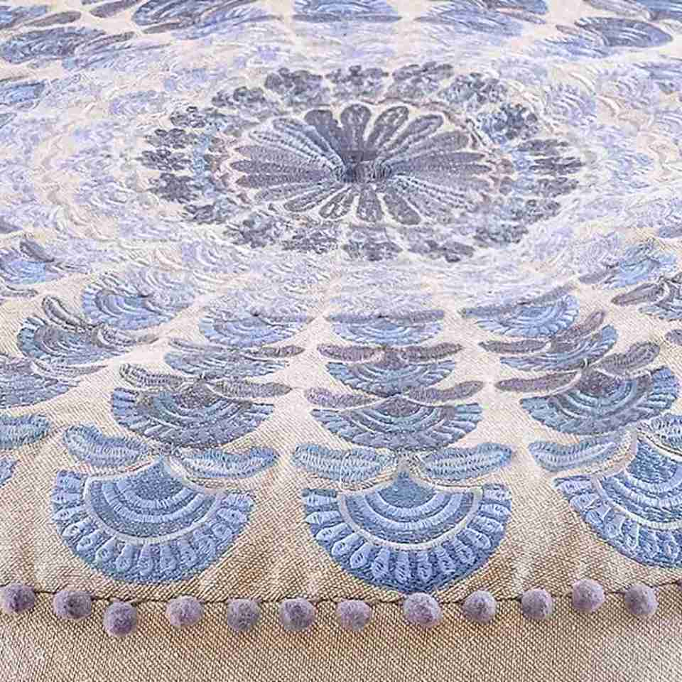 Bohemian Floor Pillow Blue 8