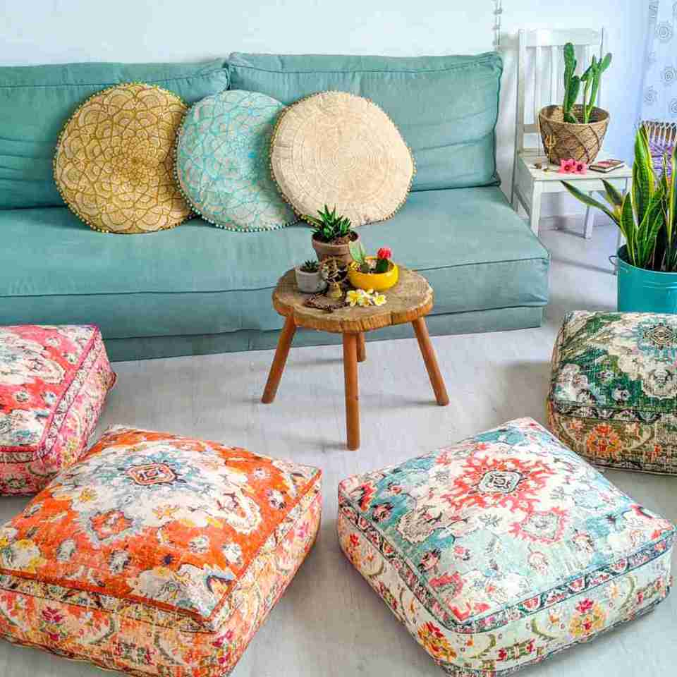 Blhemian Pouf Floor Pillow Cushion 12