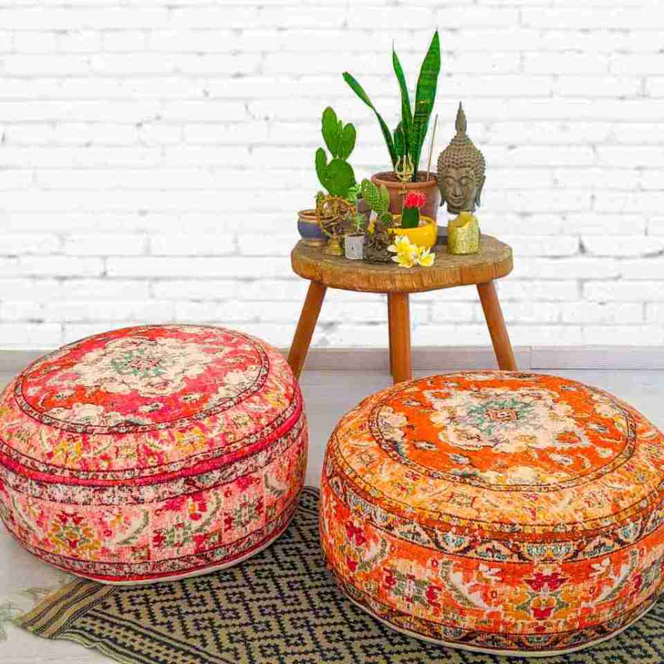 Blhemian Pouf Floor Pillow Cushion 16