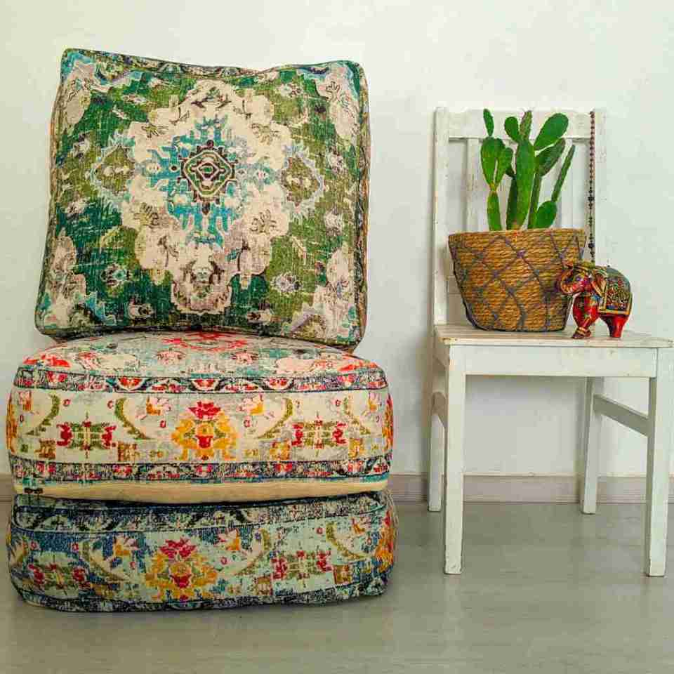 Bohemian Decor Floor Cushion Pouf Carpet Floor Pillow Boho Chic Large Living Room Bedroom chidren room 19
