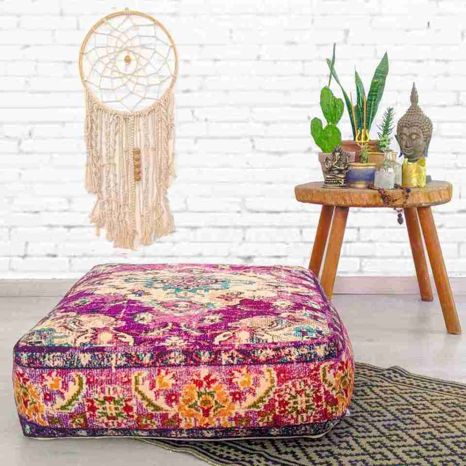 Bohemian Decor Floor Cushion Pouf Carpet Floor Pillow Boho Chic Large Living Room Bedroom chidren room 20