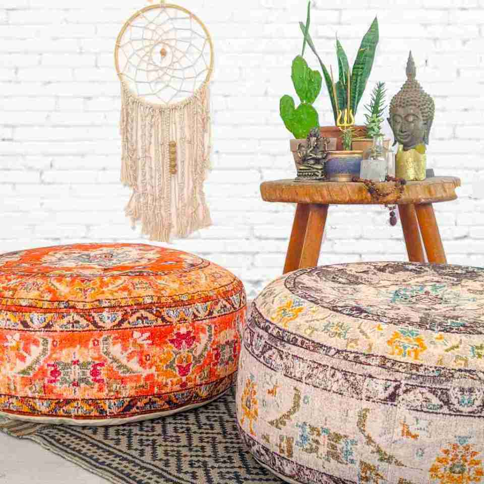 Bohemian Decor Floor Cushion Pouf Carpet Floor Pillow Boho Chic Large Living Room Bedroom chidren room 4