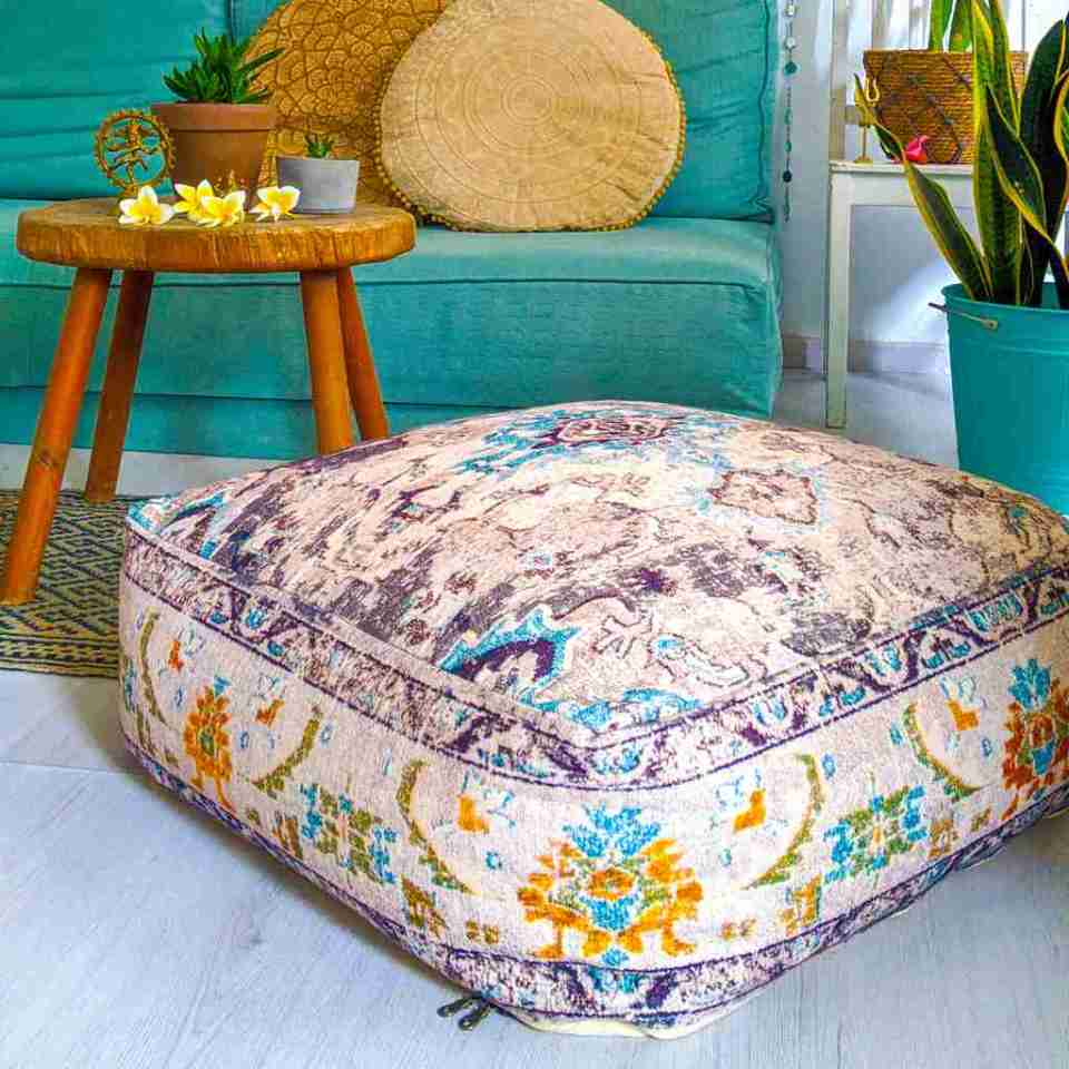 Bohemian Decor Floor Cushion Pouf Carpet Floor Pillow Boho Chic Large Living Room Bedroom chidren room 57