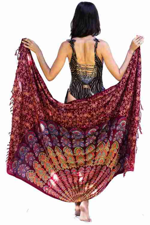 Bohemian Woman Beach Pareo Mandala Sarong Wrap Bikini Cover Up Tapestry Wall Hanging 16