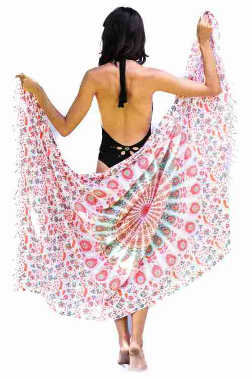 Bohemian Woman Beach Pareo Mandala Sarong Wrap Bikini Cover Up Tapestry Wall Hanging 37
