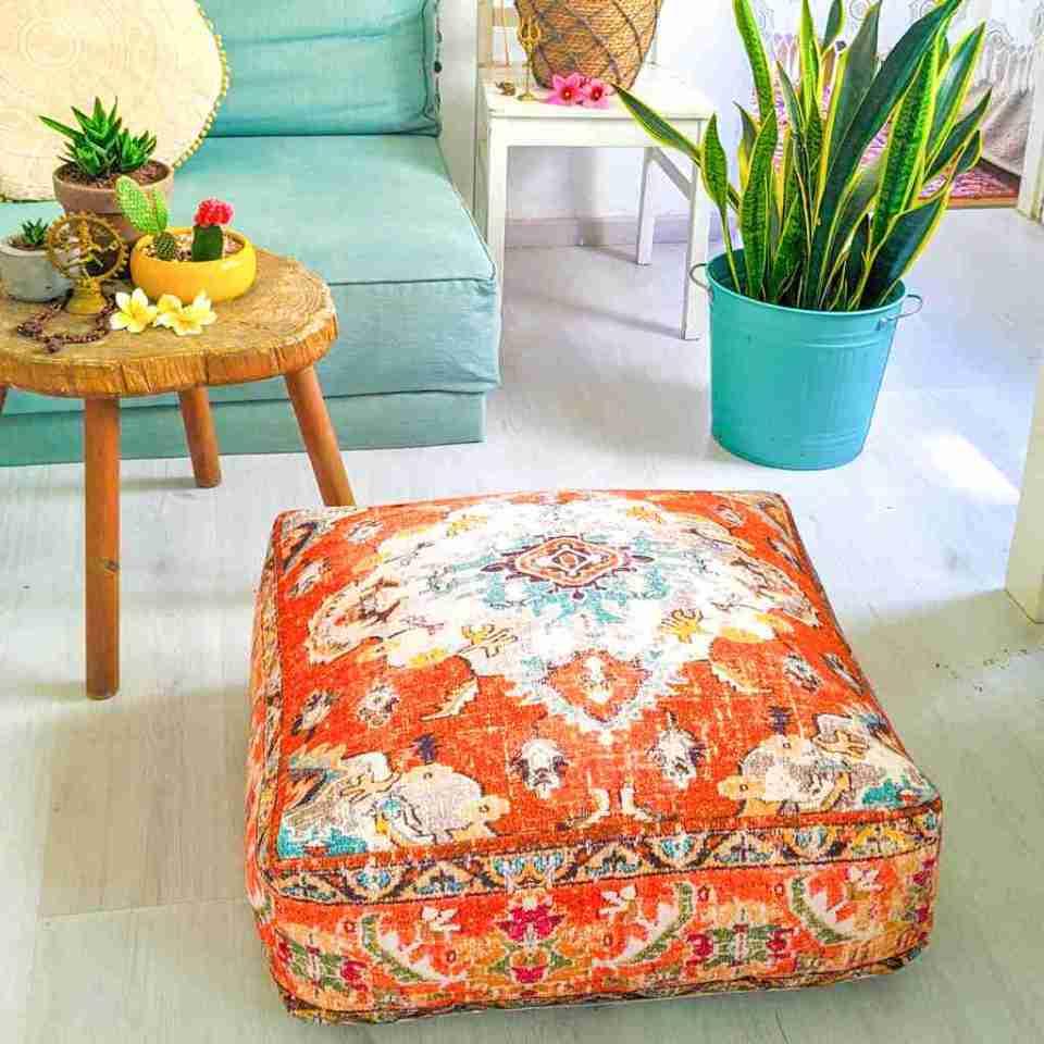 Orange Vintage Floor Cushion 4
